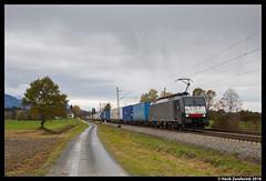 Lokomotion 189 927, Übersee 11-11-2016 (Henk Zwoferink) Tags: übersee bayern duitsland henk zwoferink siemens lokomotion lomo rtc ekol rail traction company mrce 189 927 zebra es64f4