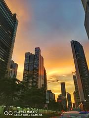 Citibank that never sleep even the sun is sleeping (tomquah) Tags: nightfall clouds citi citibank huawei tomquah sunset goldensky cityscape huaweimobilesg huaweimate9