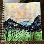 / The Mountains have Eyes 👹  Studie/Sketch for a painting  by HeavenSky 5/2017  #mountains #eyes by #heavensky a #artist from #koblach #feldkirch #vorarlberg #austria #österreich #fotografie #landschaft #landscape #rheintal #europe #lightser