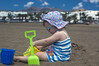 Emily playing sandcastles (dan.oxlade) Tags: d40 nikkor nikkor50mm118g beach child polarisingfilter nikon lanzarote spain holiday