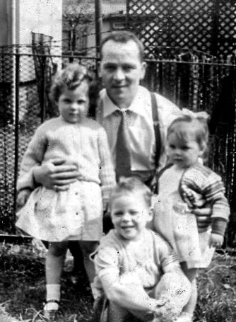 Alex Airlie with his children,  1950s-2