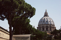 """""""The Church always seems to be behind the times, when it is really beyond the times"""" (Therese Trinko) Tags: vatican stpeters basilica rome roma italy italia vaticano laiglesia thechurch catholic vaticanmuseum dome europe"""