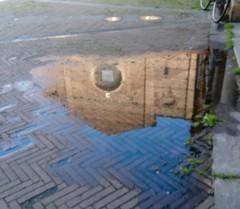 I Servi after the Rain (bejolino) Tags: bologna chiesadeiservi stradamaggiore mainstreet pozzanghera riflesso reflection puddle