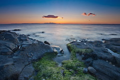 Seawood Bay Seascape (PeterYoung1.) Tags: atmospheric beautiful blue clouds green landscape light nature ocean peteryoung1 rocks scenic scotland seascape sea sunset sunlight prestwick uk water