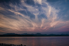 Sunset over snowdonia (gopper) Tags: snowdon snowdonia wales welsh cymru cloud clouds silhouette gwynedd pwllheli sea seaside nikon d7100 ngc beach sunset lleyn peninsula sand coast golden west amazing abersoch seascape south footprints sandy north wale criccieth flickr photography uk british llyn