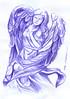 angel a lapicero (ivanutrera) Tags: draw dibujo drawing dibujoalapicero dibujoaboligrafo boligrafo angel angelito sacro sketch sketching lapicero