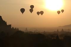 magical Bagan (PawL23) Tags: myanmar burma balloonsoverbagan hotairballoons sunrise sun silhouette shadow goldenhour golden dhammayangyi temple stupa landscape asia