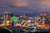 台北向晚 - Evening in Taipei (basaza) Tags: canon 30d 1635 內湖 美麗華 101 劍南山