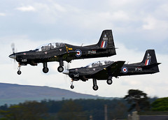 Tucano Pair (np1991) Tags: lossiemouth lossie moray scotland united kingdom uk nikon digital slr dslr d7100 camera sigma 50500mm 50 500 50500 mm bigma lens raf royal air force aviation planes aircraft shorts tucano t1 tuc 72r 72 seventy two 7 2 reserve r squadron sqn basic flight training pairs approach tdy