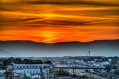 Spring Haze Sunset Roanoke (Terry Aldhizer) Tags: spring haze sunset roanoke mountains blue ridge railroad bridge city sky clouds terry aldhizer wwwterryaldhizercom
