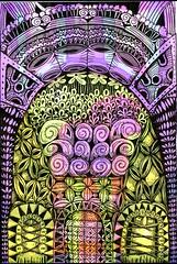 Greenhouse Effect (molossus, who says Life Imitates Doodles) Tags: bleedthrumanade zentangleinspiredart zentangle clairefontaine