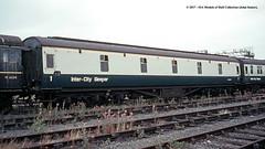 c.1970 - Wolverton Works, Milton Keynes, Buckinghamshire. (53A Models) Tags: britishrail lms sleeperfirst slf m399m sleepingcar passengercoach wolverton works train railway locomotive railroad