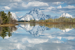 Oxbow Bend (Jeremy Duguid) Tags: sunrise morning dawn travel nature landscape grand teton national park tetons reflection reflections mountains oxbow bend snake river snow spring trees jeremy duguid sony jackson hole gtnp photography
