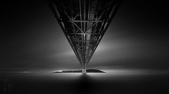 The Land of Redemption (YOSHIHIKO WADA) Tags: blackandwhite longexposure seascape hyperlongexposure fineart japan bridge architecture koube