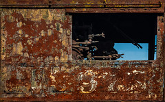Locomotion (Junkstock) Tags: aged abandoned artifact artifacts altebenutztegegenstände color corrosion corroded decay decayed distressed exterior illinois irmcom iron industrial industry locomotive machinery machine old oldstuff oldandbeautiful oldusedobjects obsolete railroad relic rust rusty rustyandcrusty rusted rivets textures texture transportation transport trains train vintage weathered