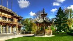 Jardin Chinois à Bruxelles (BE) (Ⓨ a s m i n e Ⓗ e n s +4 900 000 thx❀) Tags: garden chinois chinesegarden jardin belgium belgique bruxelles brussels clouds sky bluesky hdr hensyasmine leica leicaq