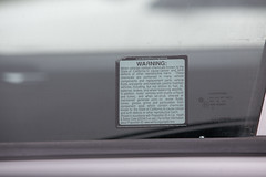 California Proposition 65 (Prop 65) Warning on Car Window (Tony Webster) Tags: california prop65 proposition65 cancer carwindow caution chemicalsknowntothestateofcaliforniatocausecancer motorvehicles sticker vehicle warning santamaria unitedstates us