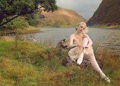 Lacing Up.. (Scottish Mary Moo) Tags: ballet balletdancer pumps ribbon loch lochkillin lochness highlands scottish scotland mountains katy dancer ballerina whitebridge