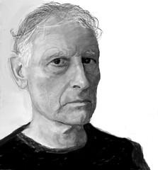 Herman S. - JKPP (geoffreyrbryan) Tags: monochrome portrait pencil scanned painted