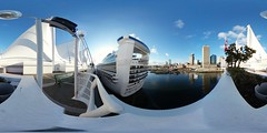 Princess Cruises; Canada Place (samayoukodomo) Tags: samsunggear360 gear360 360° 360 equirectangular photosphere boat cruiseship canadaplace vancouverbc vancouverisland vancouver britishcolumbia vancity lifeis360