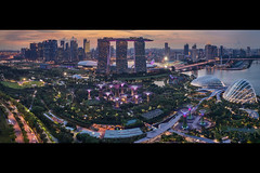 Marina Bae (draken413o) Tags: singapore marina bay sands gardens supertrees sunset architecture cityscapes skyline skyscrapers urban places scenes wow amazing aerial drone dji phantom 4 pro panorama asia travel destinations flyer cbd central business district cloud domes
