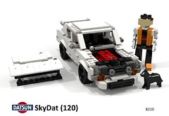 SkyDat (120Y) (lego911) Tags: datsun nissan 120y skyday skyline gtr r32 awd turbo mod modified custom drag racer racing auto car moc model miniland lego lego911 ldd render cad povray lugnuts challenge 114 automotiveculturemashup automotive culture mashup foitsop 1973 1970s classic japan japanese coupe sedan cokebottle