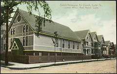 Danish-Norwegian Evangelical Church, Cedar Street, corner Minor, New Haven, Connecticut (National Library of Norway) Tags: nasjonalbiblioteket nationallibraryofnorway postkort postcards kirker churches newhaven connecticut danishnorwegianevangelicalchurch
