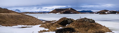 Pseudocrater pano (katrin glaesmann) Tags: iceland mývatn unterwegsmiticelandtours photographyholidaywithicelandtours winter snow mountains lake frozen pseudocrater rootlesscone panorama stitched