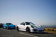 R or RS? (MJParker1804) Tags: porsche 911 991 911r gt3 rs gt3rs miami blue pts green pdk manual 40 flat 6