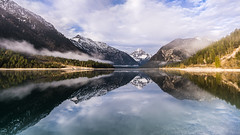 Good morning sunshine (hjuengst) Tags: landschaftennatur plansee see reflection mountain fog foggy mist misty lake austria symmetry thaneller reutte tyrol tirol ammergaueralps