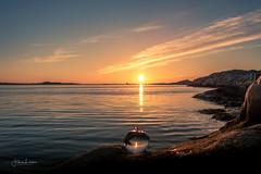 Breathe (Fredrik Lindedal) Tags: glow ocean nature landscape sunset sky skyline orange blue visitsweden visitgothenborg westcoast bohus serenity calmness harmony mindfulness iamnikon sweden sverige