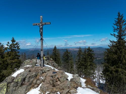 Gipfelkreuz - Großer Rachel - Bayerischer Wald - Bavaria - Germany - 170506
