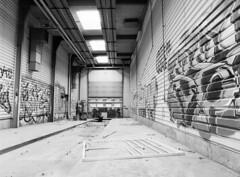 Former Bus Depot (holtelars) Tags: pentax 645 pentax645 645n 6x45 smcpentaxfa 45mm f28 120 film 120film rollei rolleirpx rolleirpx100 100iso mediumformat analog analogue blackandwhite classicblackwhite bw monochrome filmforever ishootfilm filmphotography xtol jobo autolab atl1500 homeprocessing larsholte urbex ht terminal garage kokkedal denmark danmark depot graffiti