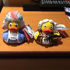 #rubberduckies of this ilk only in #england for @deborahgeemusic collection. These are unique! Okay, can you guess who they are? Look at them carefully. 😉