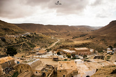 Let history and nature speak (sanaturki) Tags: view amazingview clouds mountains village ber berbervillage stones yellow path history landscapephoto landscapephotograpy photodepaysage nikon nikond5300 tunisia tunisie naturelover