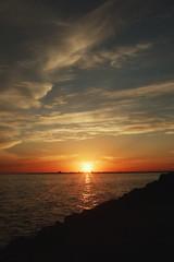 Black Hole Sun (Swebbatron) Tags: australia throwbackthursday victoria stkilda melbourne breakwater pier sunset dusk radlab travel 2008 fuji lonelyplanet lp seascape