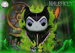 """""""But before the sun sets on her 16th birthday she shall prick her finger on the spindle if a spinning wheel... and Die! """"   - Maleficent (Chase GITD) (PrinceMatiyo) Tags: toyphotography popvinyl funko hottopicexclusive chaseglowinthedark disneyvillain disney angelinajolie maleficent"""