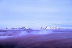 Above the... Purple Rain ?! (GEORGE TSIMTSIMIS) Tags: mountains peaks snow clouds sky blue purple white alpenglow earth land pentaxk1 ricohimaging explore adventure greece gionamountain outdoors nature