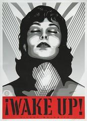 """ Make Up "" 2017 by Shepard Fairey / Pop Art (lalek72.popart) Tags: artprint art popart makeup shepardfairey poster popartposter popartculture popartworld wakeup blackwhite bw coverart"