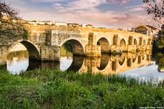 Puente romano Rio Miño (cvielba) Tags: puente atardecer lugo miño reflejos rio romano