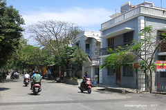 Street Scene - Pondicherry India - Former French Colonial settlement (WanderingPhotosPJB) Tags: india pondicherry puducherry unionterritory french street scene colonial