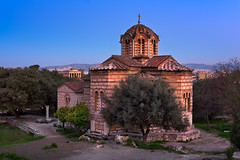 Church of the Holy Apostles and Temple of Hephaestus in Agora in the Morning, Athens, Greece (ansharphoto) Tags: agora ancient apostle apostles architecture athens attica balkans building byzantine capital christian church city cross culture dawn dome europe european facade greece greek hephaestus historic history holy iconic illuminated landmark lights medieval mediterranean monument morning night old oldest orthodox saint sky skyline stone temple tourism town travel twilight urban vacation