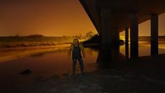 Under the Bridge (essex_mud_explorer) Tags: rainwear rainbib bibandbraces raincoat rainjacket hellyhansen nusfjord waders rubber boots thigh thighboots thighwaders daiwa coarsefisher hunter uniroyal gates watstiefel cuissardes creek muddy muddycreek muddyboots muddywaders tidal estuary riverthames thamesestuary holehavencreek