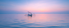 Floating Away... ([v] style + imagery) Tags: bali karang sunrise jakung boat reflection reflections ocean seascape sanur indonesia