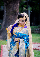 The Bride (Mahmodul Ha$aN) Tags: bride marriage marry saree cute gold tree portrait wedding shy