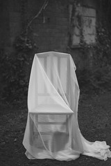 Ghosts (aaronlovelock) Tags: ghost cloth girl woods outside contours portrait old gloomy atmospheric cornwall