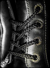 Dr Martens. . . (CWhatPhotos) Tags: black noir fine hair cell boot industrial 7 seven hole leather photograph pics pictures pic picture image images foto fotos photography artistic that which contain digital cwhatphotos photos photographs camera olympus tg4 tough close up icon 7a18 size 11 safety eyelets doc docs doctor marten martens air wair airwair bouncing soles original macro lace boots drmartens docmartens dms cushion sole yellow stitching dr comfort cushioned steel toe cap capped safe protective dm 10