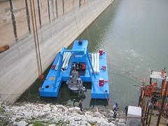 Водохранилище Dirillo, Силиция - дноуглубительные работы земснарядом