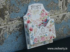 Post Box in Shabby Chic Style (Smile Arty) Tags: gift present vintage handmade decoupage crafts arts diy post box shabby chic