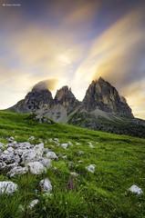 Sassolungo (Diego Chemello) Tags: passosella sassolungo dolomites longexposure landscape dolomiti nikon sky light natgeography d7000 travel italy tramonto